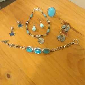 Jewelry - Blue and Silver Jewelry Mixed Bag